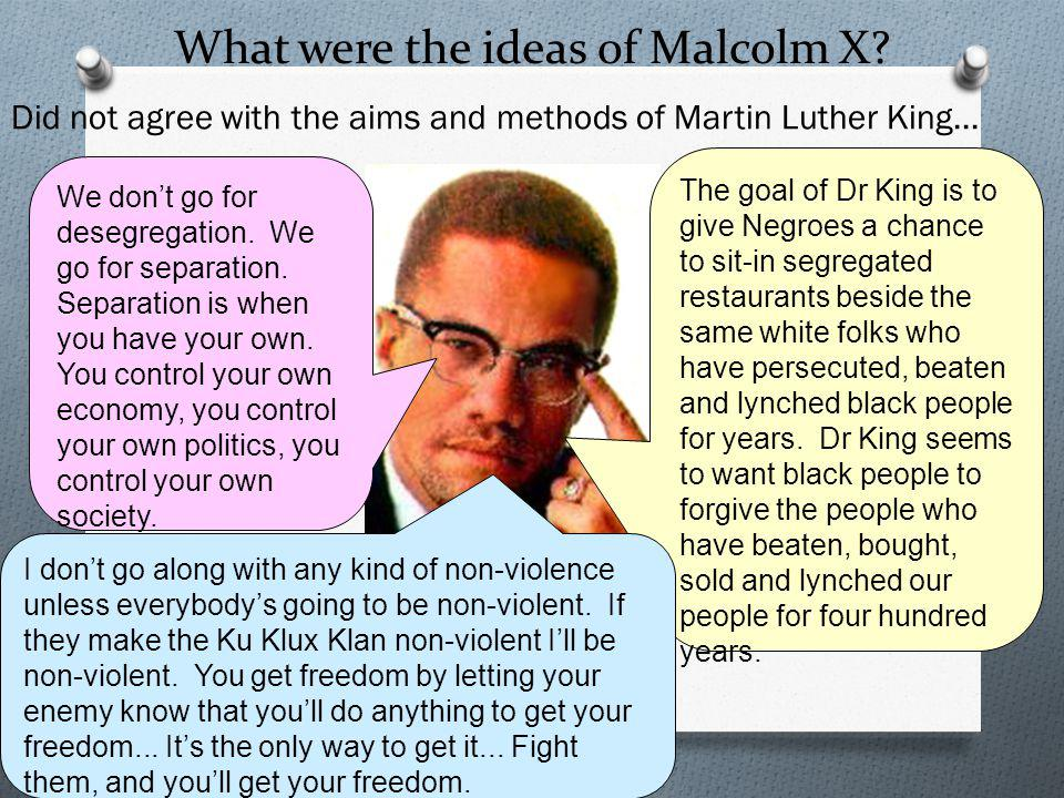 What were the ideas of Malcolm X