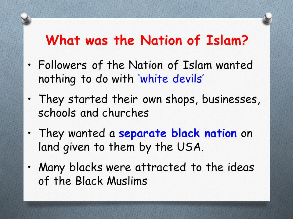 What was the Nation of Islam