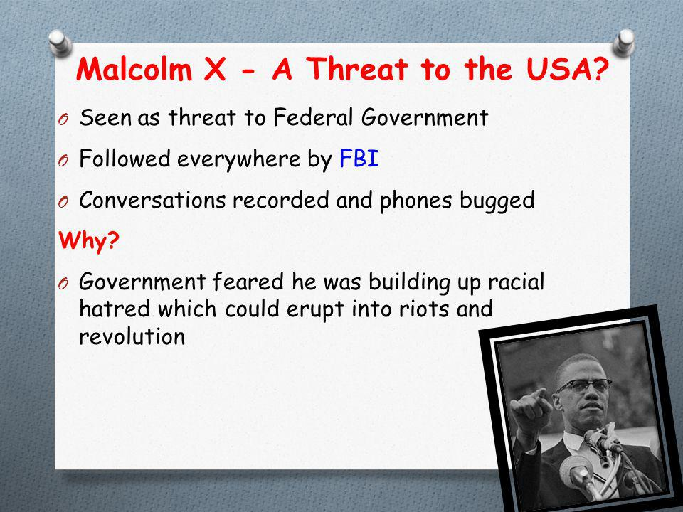Malcolm X - A Threat to the USA