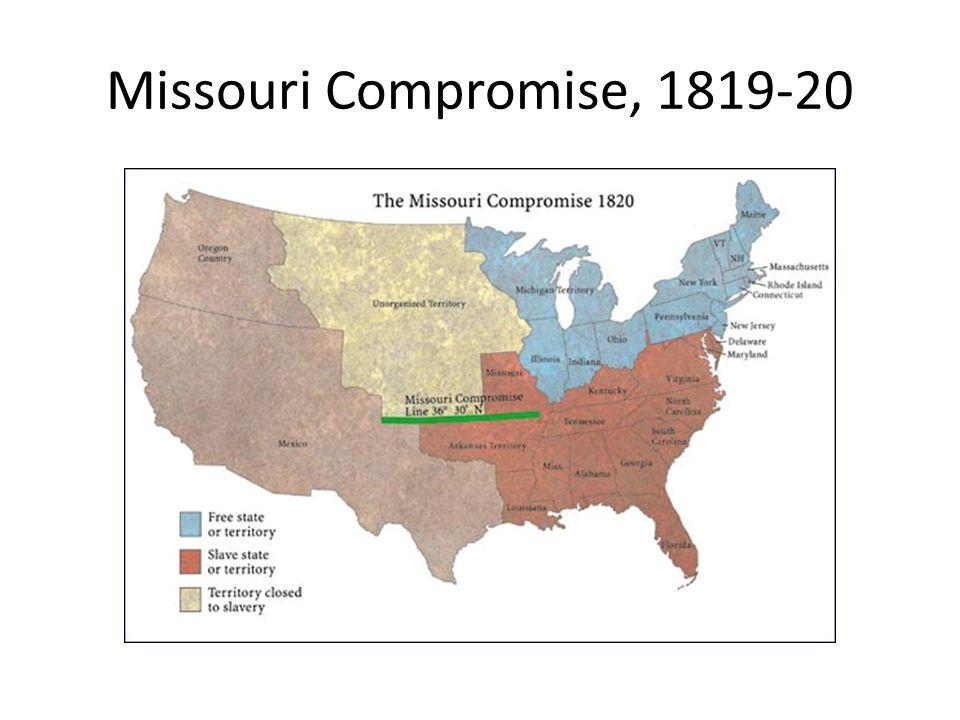 Missouri Compromise, 1819-20
