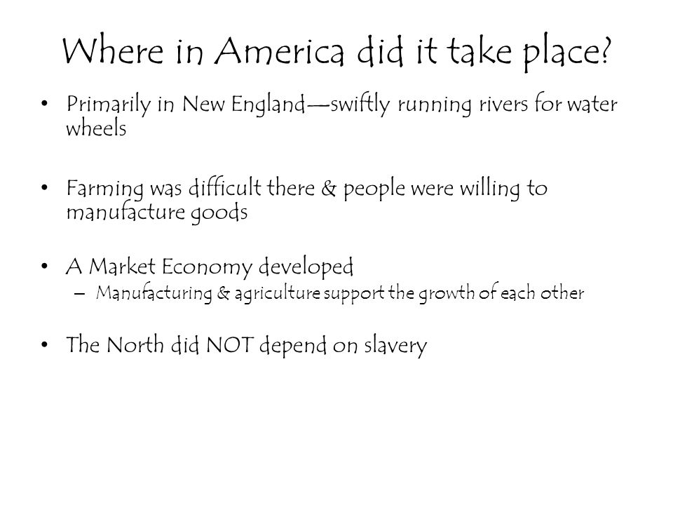 Where in America did it take place