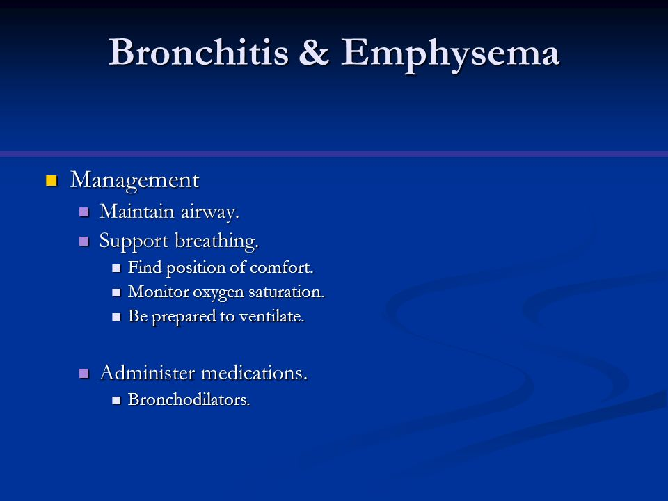 Bronchitis & Emphysema
