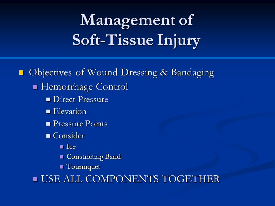 Management of Soft-Tissue Injury
