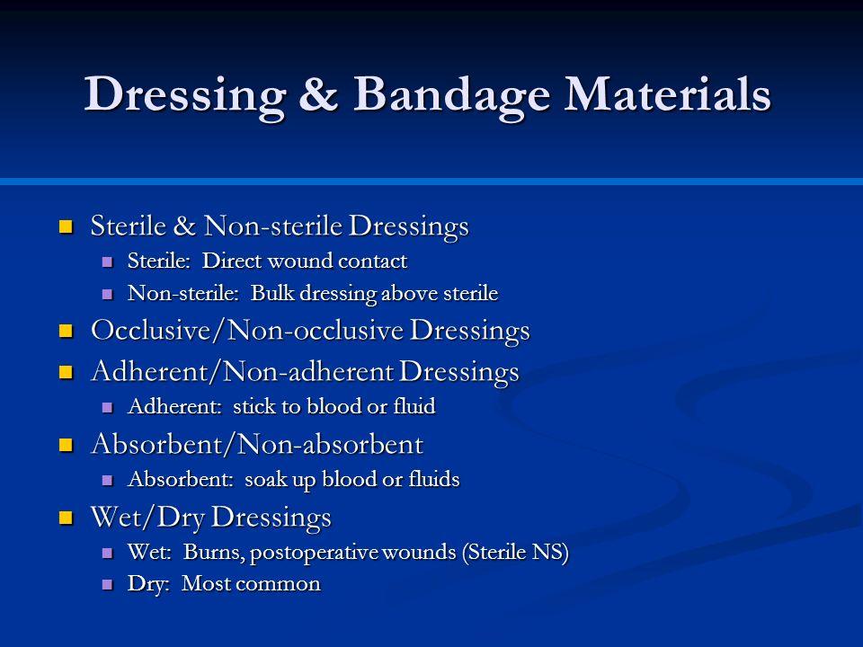 Dressing & Bandage Materials