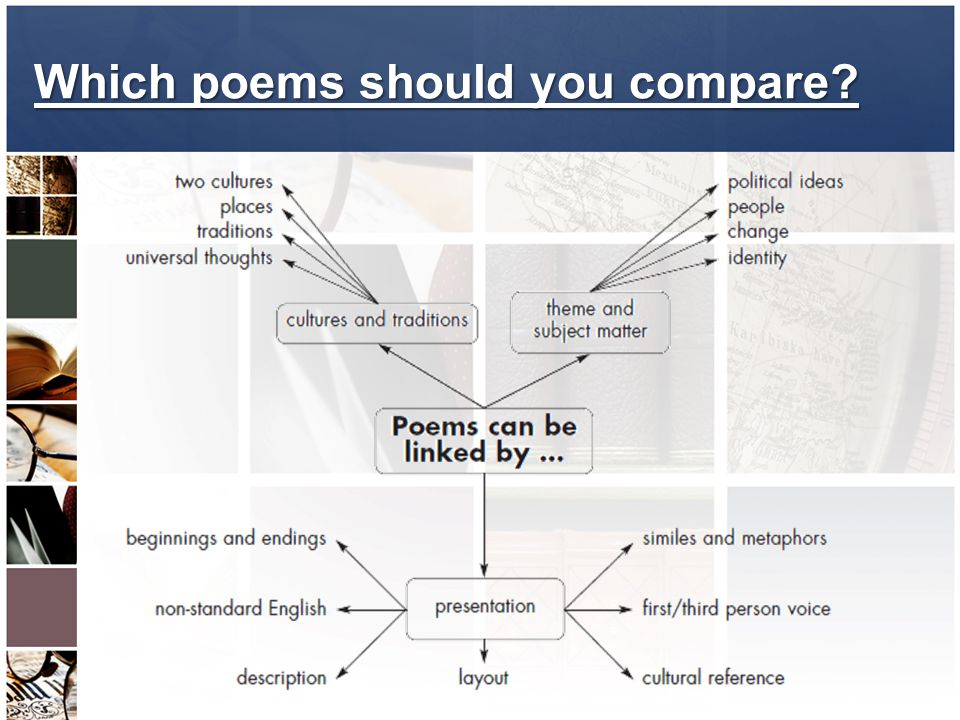 Which poems should you compare