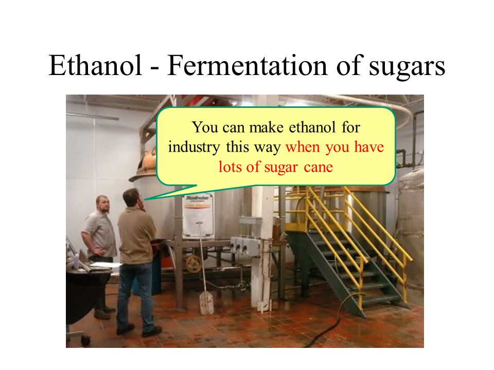 Ethanol - Fermentation of sugars