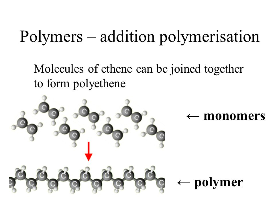 Polymers – addition polymerisation