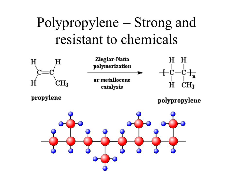 Polypropylene – Strong and resistant to chemicals