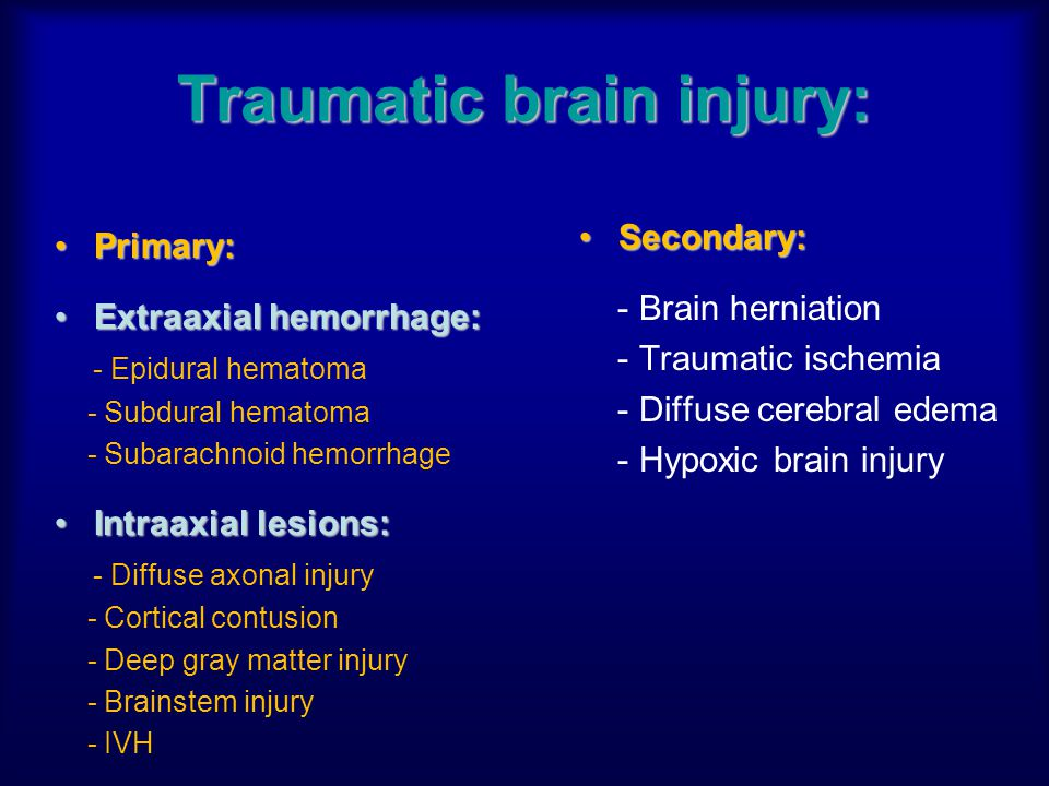 Traumatic brain injury: