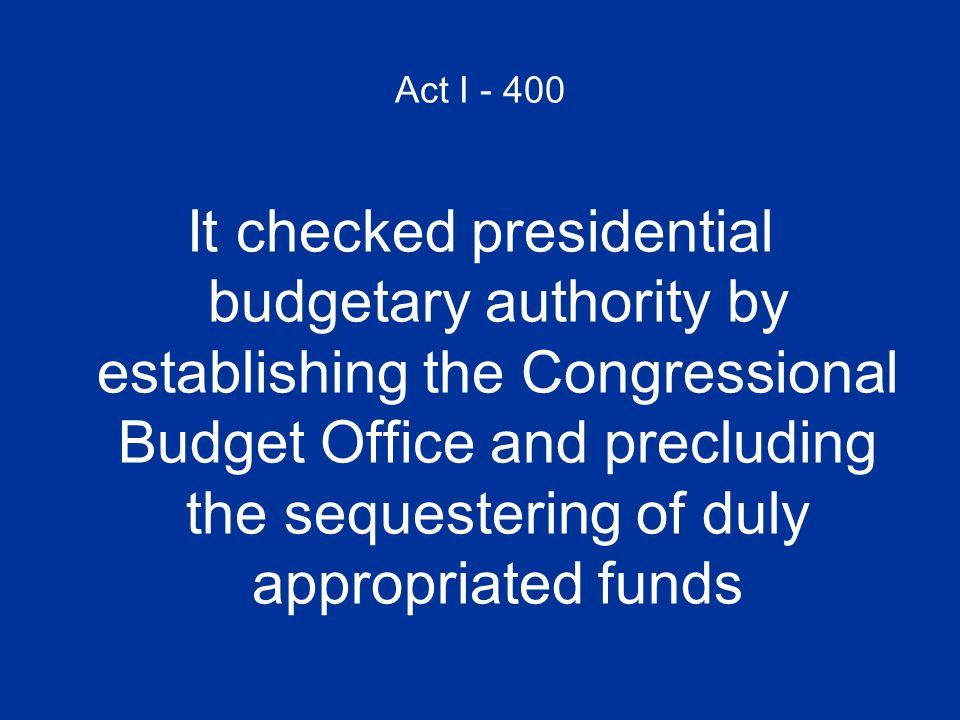 Act I - 400