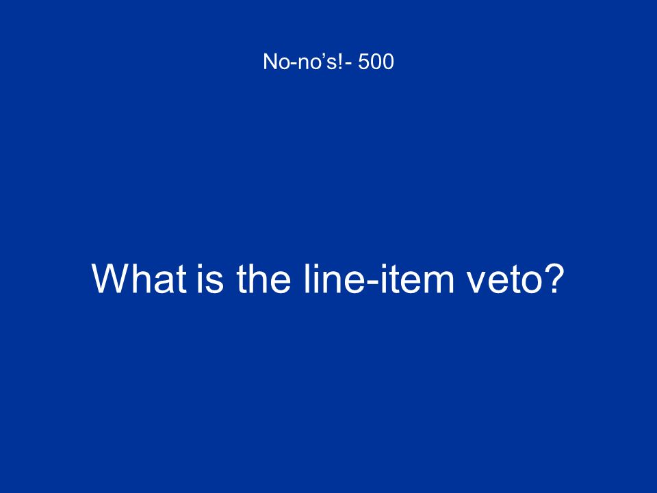 What is the line-item veto