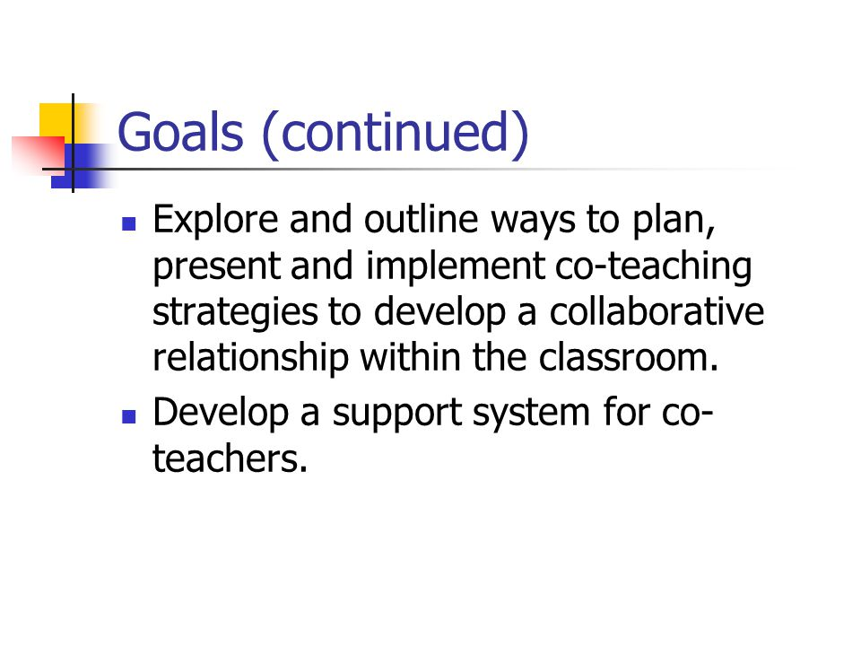"Collaborative Teaching Goals ~ Welcome please complete individually the sheet ""what is"