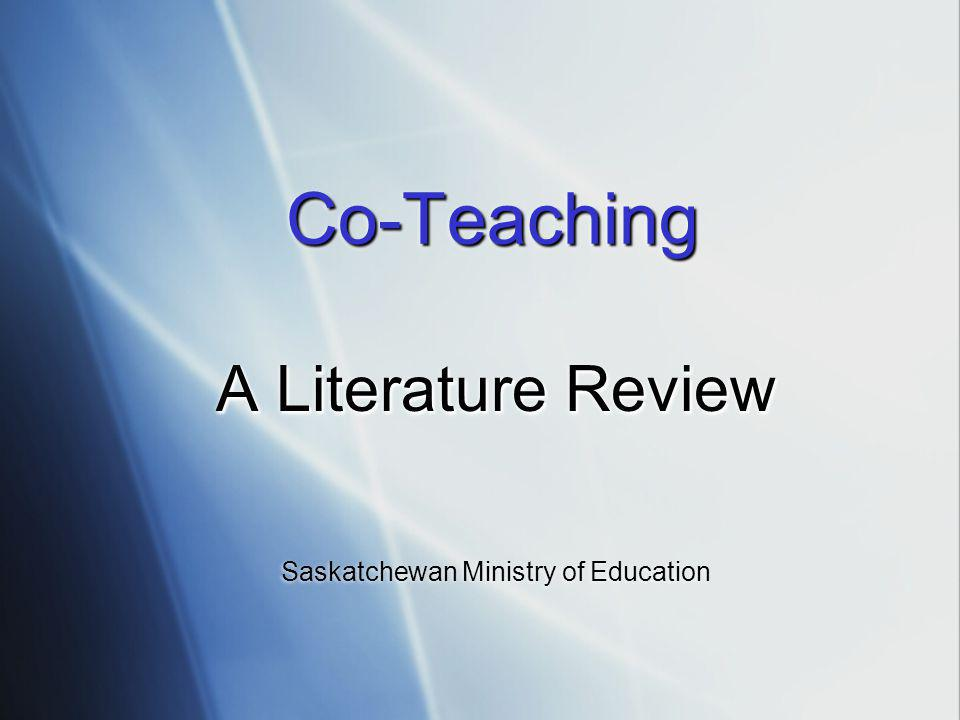 A Literature Review Saskatchewan Ministry of Education