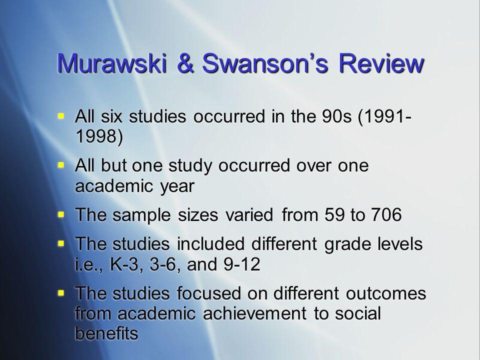 Murawski & Swanson's Review