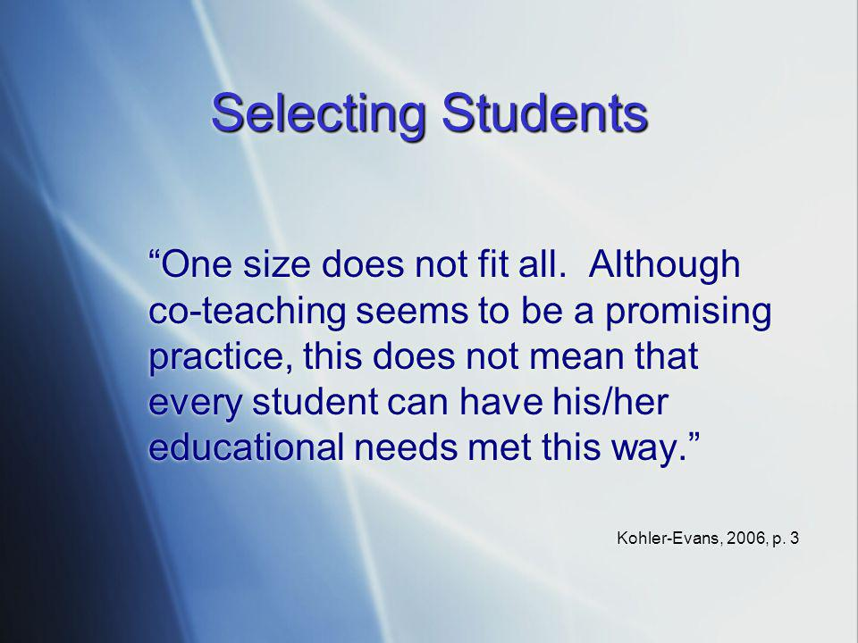 Selecting Students