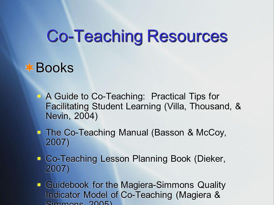 Co-Teaching Resources