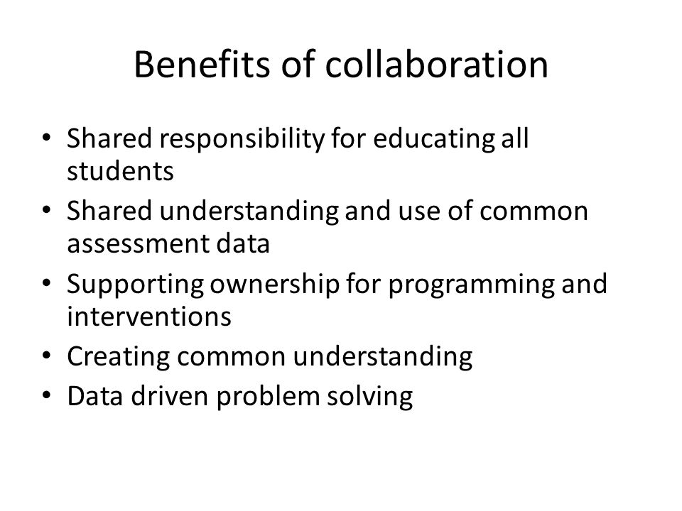 Collaborative Teaching Reaping The Benefits ~ Co teaching a collaborative journey ppt video online