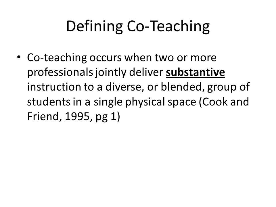 Defining Co-Teaching
