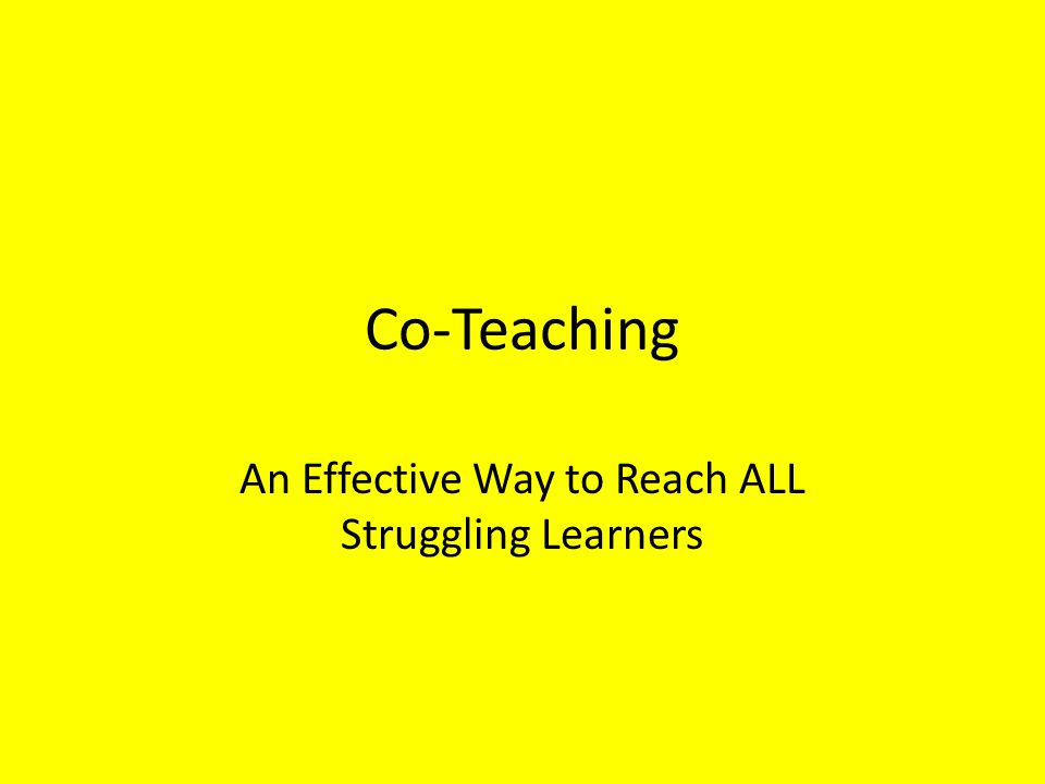 An Effective Way to Reach ALL Struggling Learners