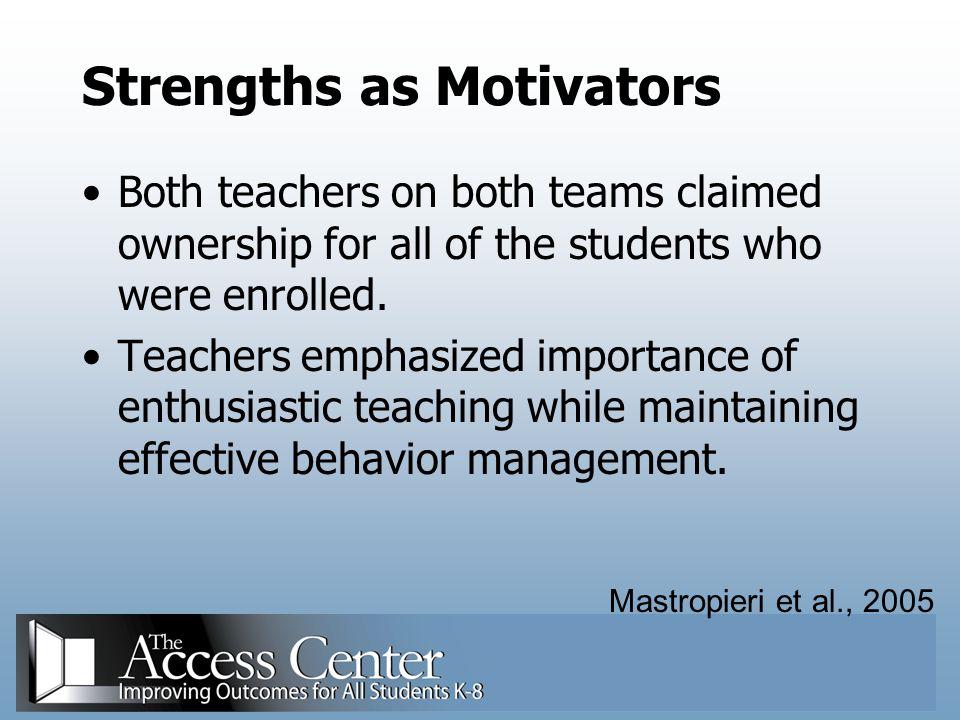 Strengths as Motivators
