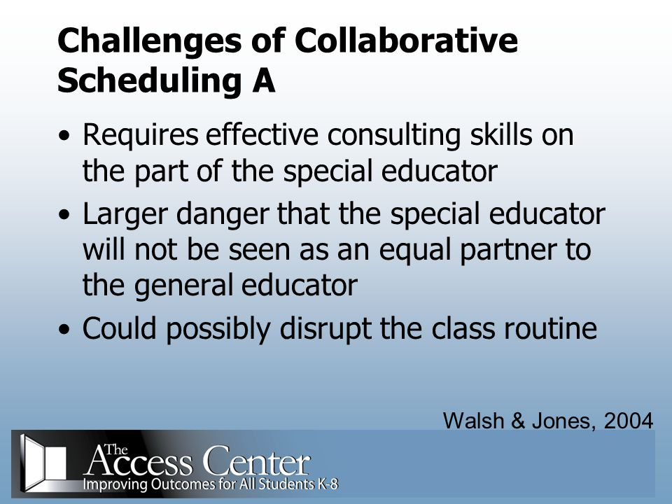 Challenges of Collaborative Scheduling A
