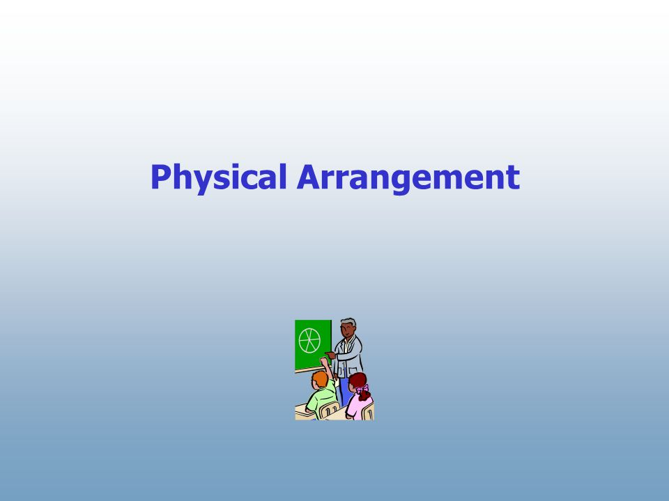 Physical Arrangement First, let's take a look at the progression of the physical arrangement in a co-taught classroom.