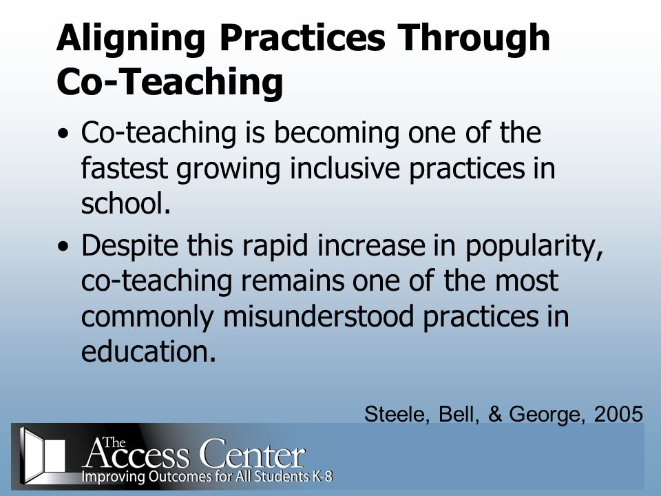 Aligning Practices Through Co-Teaching