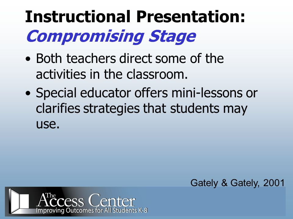 Instructional Presentation: Compromising Stage