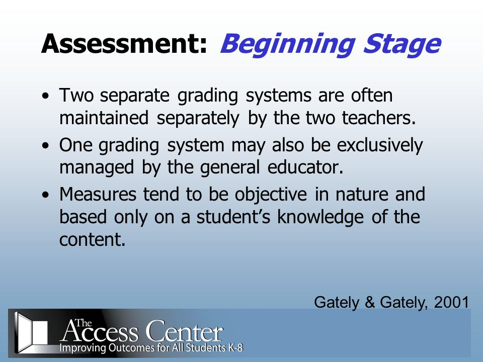 Assessment: Beginning Stage