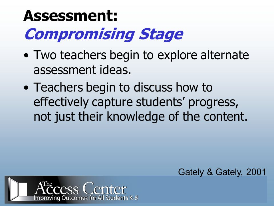 Assessment: Compromising Stage