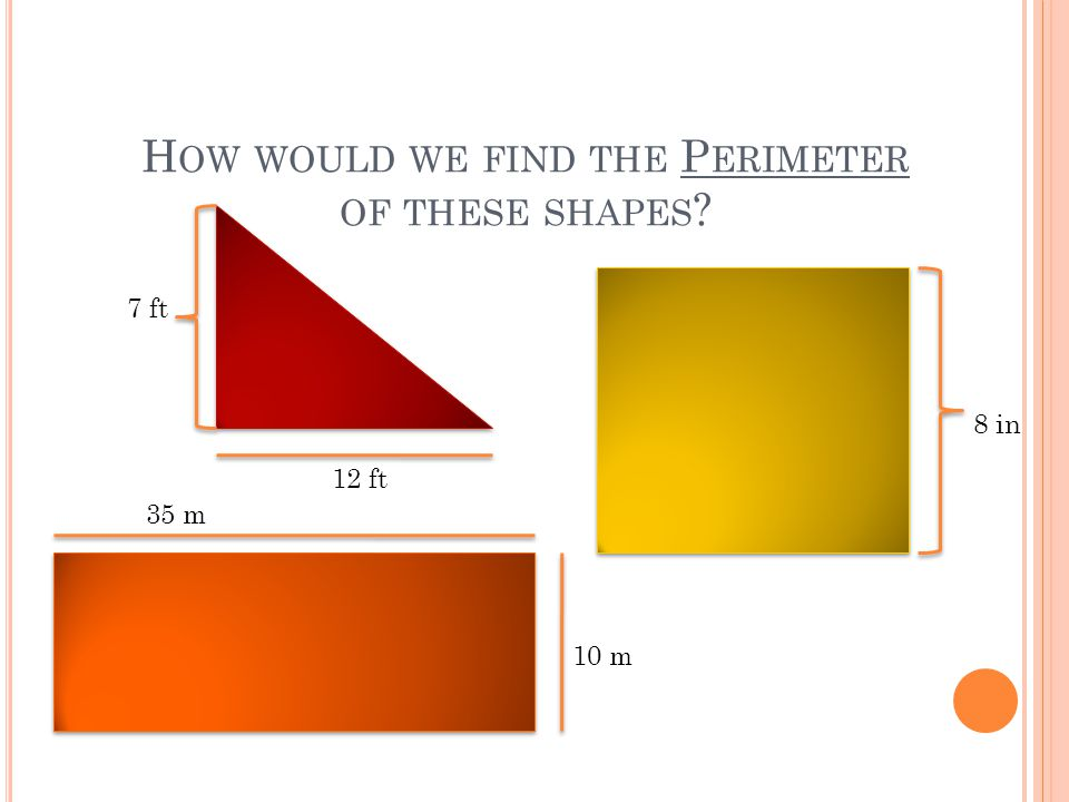 How would we find the Perimeter of these shapes