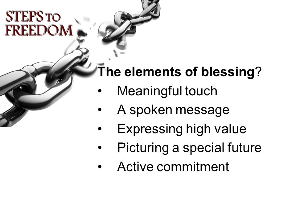 The elements of blessing