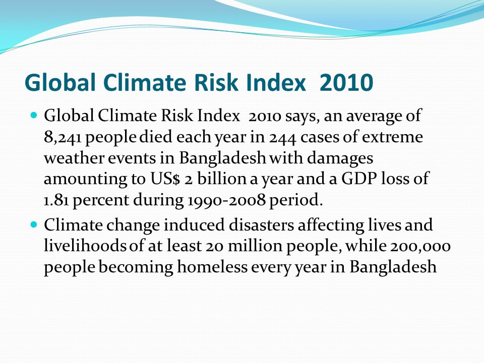 Global Climate Risk Index 2010