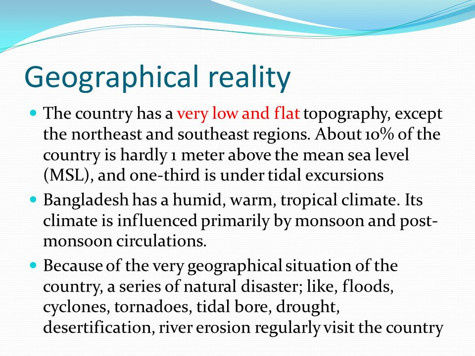 Geographical reality