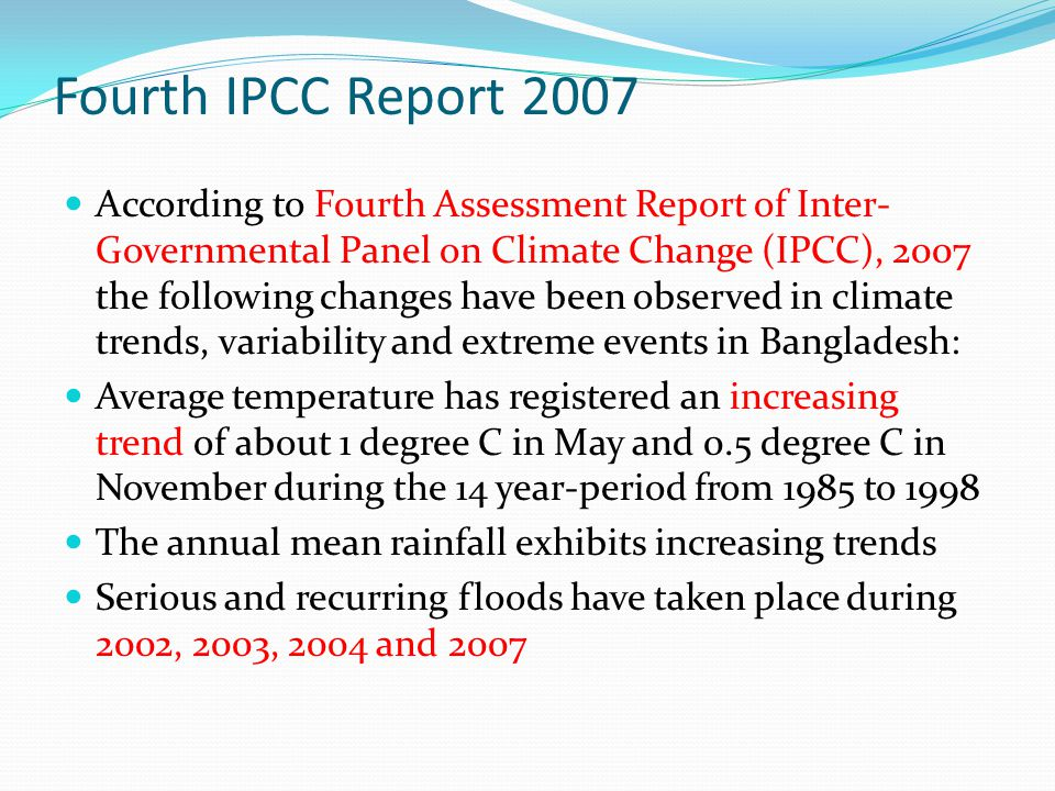 Fourth IPCC Report 2007