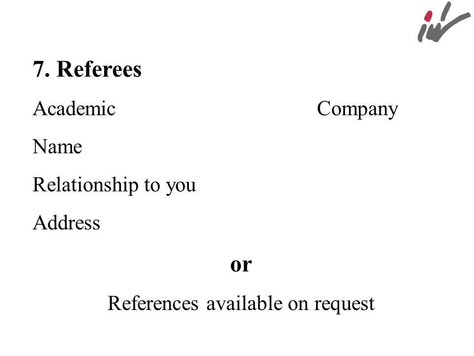 References available on request