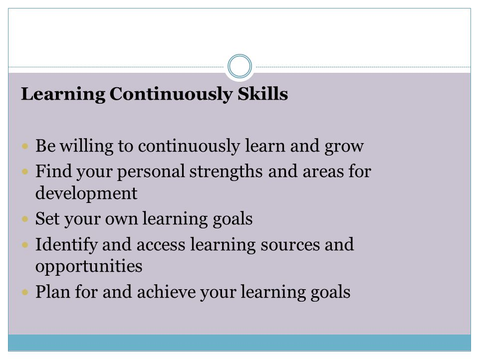 Learning Continuously Skills