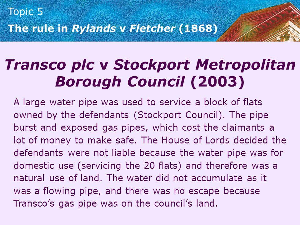 Transco plc v Stockport Metropolitan Borough Council (2003)