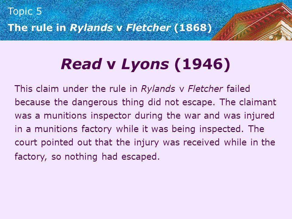 Read v Lyons (1946)