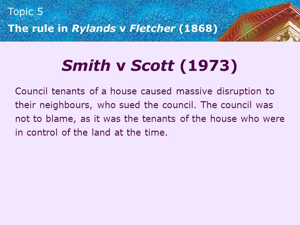 Smith v Scott (1973)