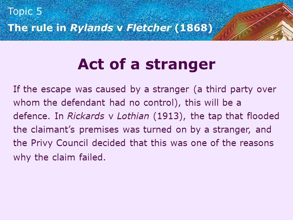 Act of a stranger