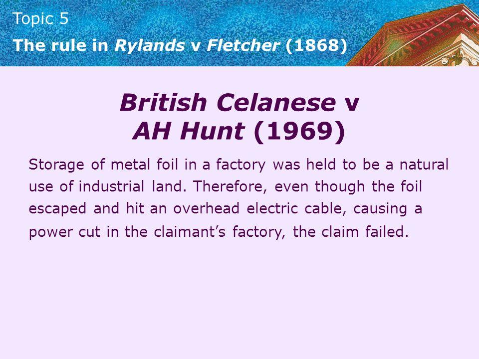 British Celanese v AH Hunt (1969)
