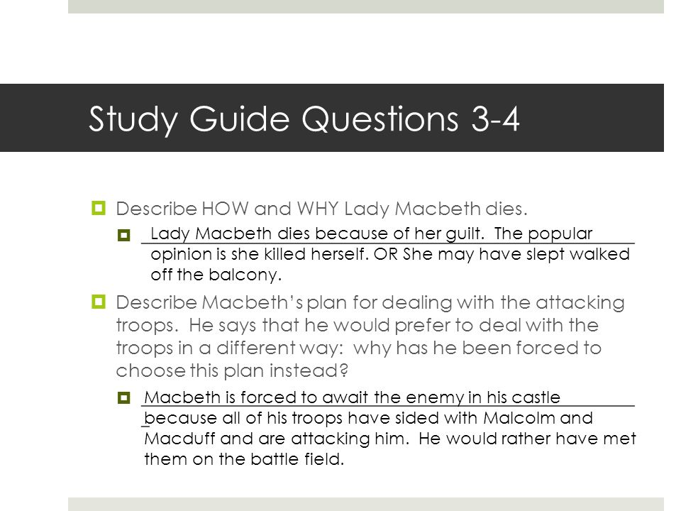 Study Guide Questions 3-4