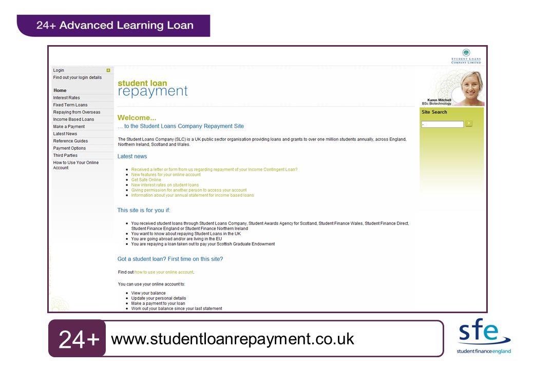 www.studentloanrepayment.co.uk 24+