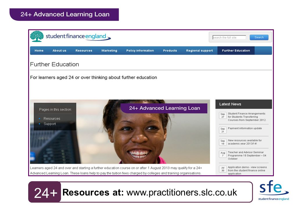 Resources at: www.practitioners.slc.co.uk