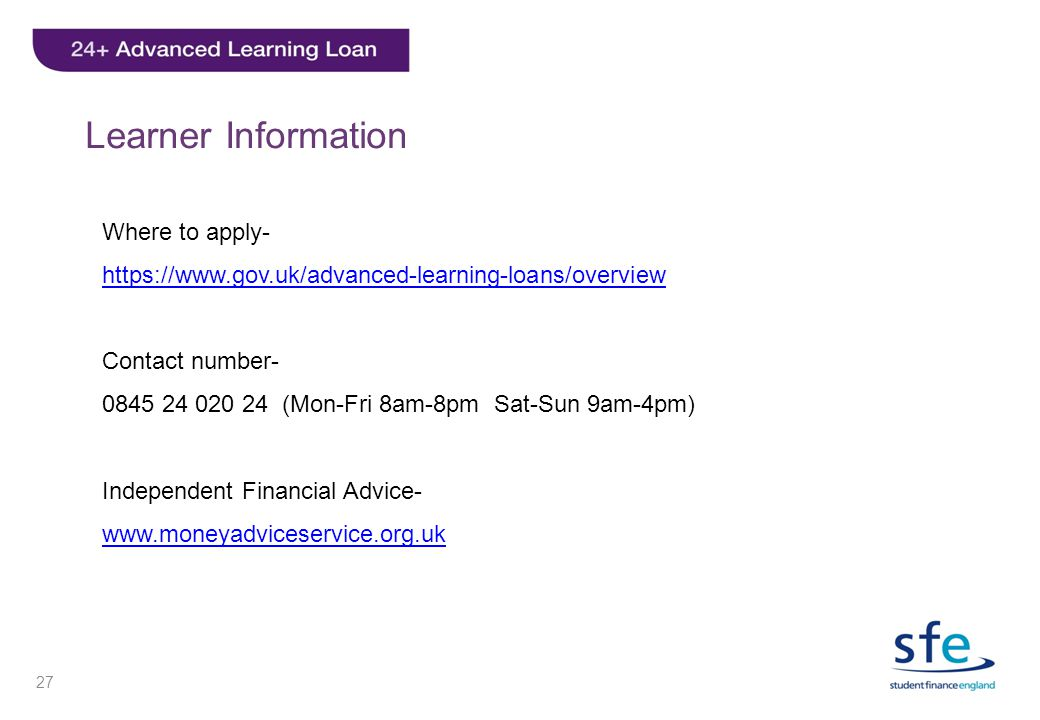 Learner Information Where to apply-