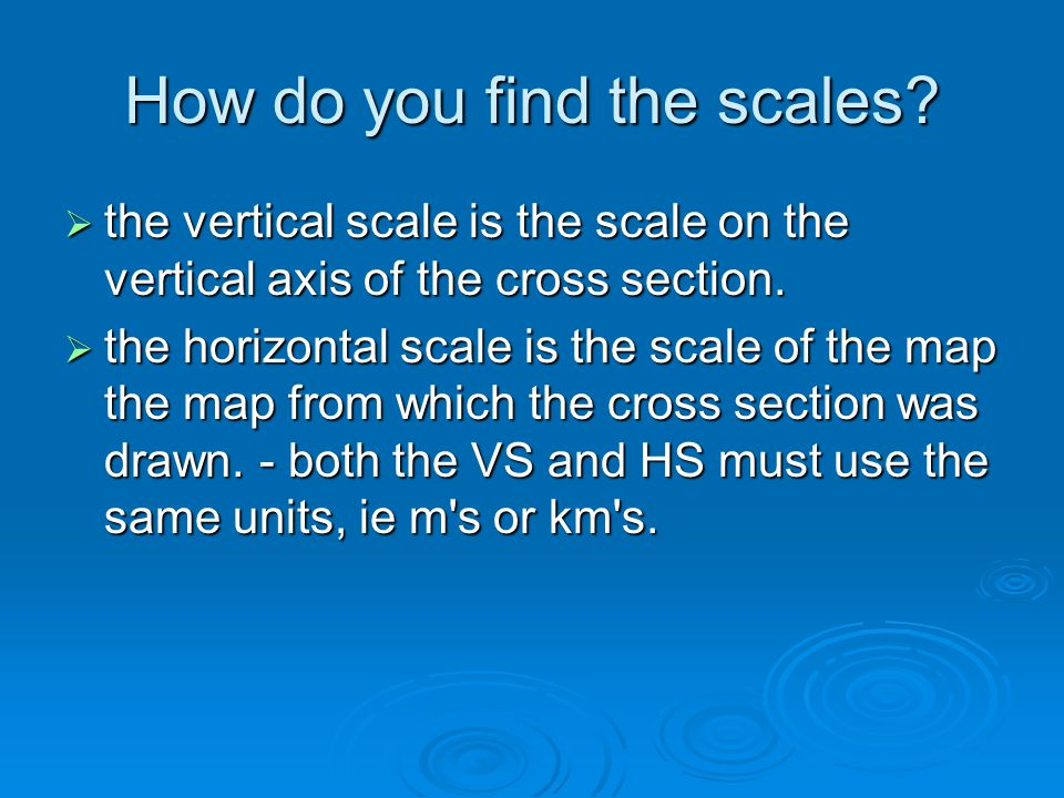 How do you find the scales