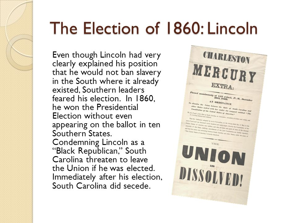 The Election of 1860: Lincoln