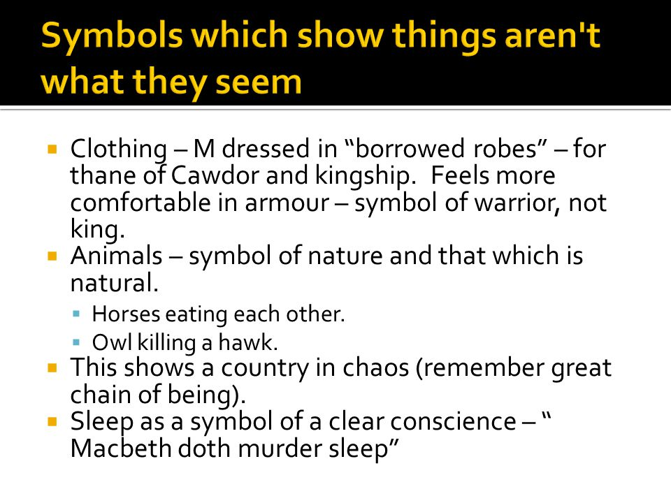Symbols which show things aren t what they seem