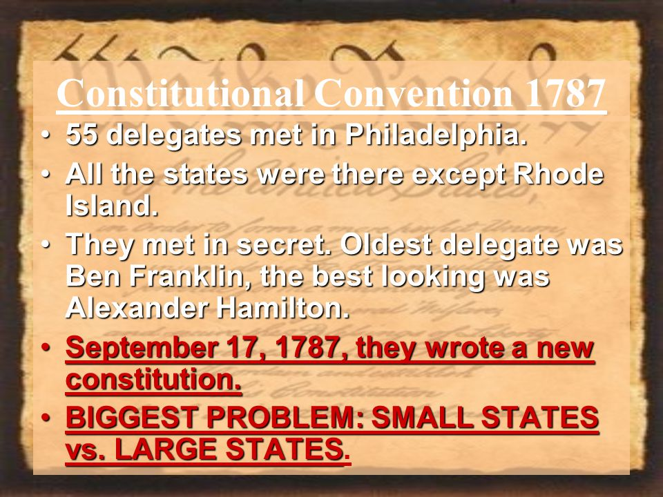 Constitutional Convention 1787